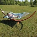 Sunnydaze Wooden Curved Arc Hammock & Hammock Stand, 13 Feet Long, 400 Pound Capacity - Thumbnail 12