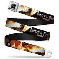 Attack On Titan Logo Full Color Black White Red Attack On Titan Eren V. Seatbelt Belt