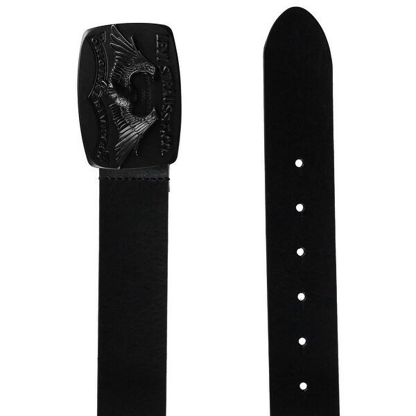 Levis Men's Dark Brass Plaque Buckle Jean Belt