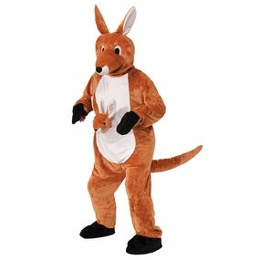 Adult Jumping Jenny The Kangaroo Costume Size Standard - standard (40-42 chest)