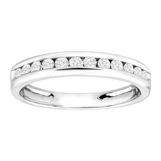 3/8 ct Diamond Anniversary Band Ring in Sterling Silver
