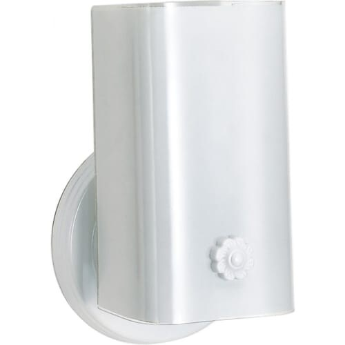"Nuvo Lighting 77/989 Single Light 7"" Bathroom Fixture with White ""U"" Channel Glass"