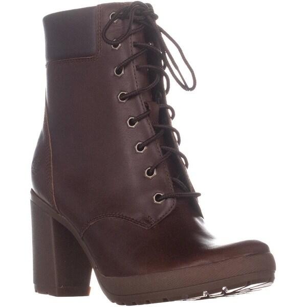 60459c7b166 Shop Timberland Camdale Block-Heel Combat Boots, Medium Brown - On ...