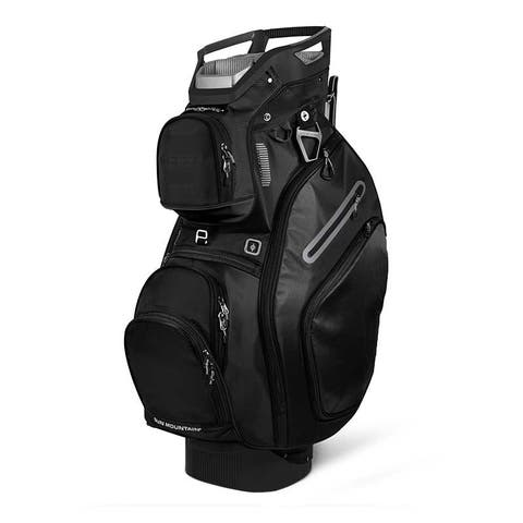 New 2019 Sun Mountain C-130 (No Logo) Cart Bag (Black) - Black