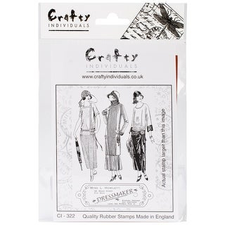 """Crafty Individuals Unmounted Rubber Stamp 4.75""""X7"""" Pkg-The D"""