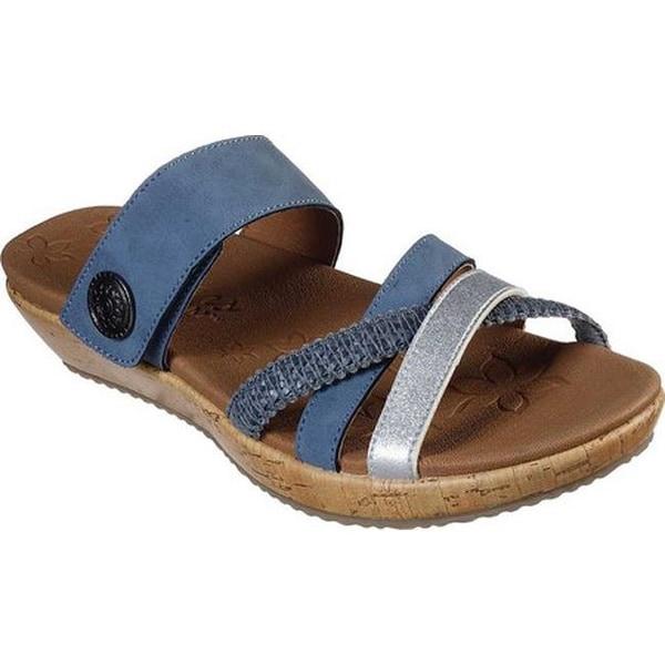 ef870905 Shop Skechers Women's Brie Star Sky Slide Sandal Blue - Free ...