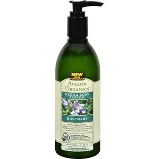 Avalon Organics Hand and Body Lotion, Rosemary - 12 fl oz