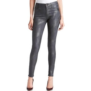 Citizens of Humanity Womens Rocket Skinny Jeans Metallic Coated