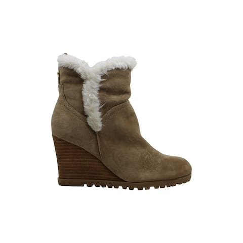 Nine West Womens Cici Faux Fur Closed Toe Ankle Cold Weather Boots