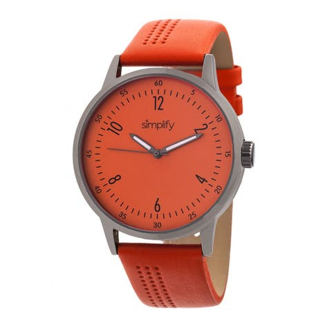 Simplify The 5700 Unisex Quartz Watch, Genuine Leather Band, Luminous Hands