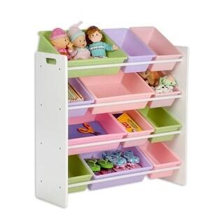 Honey-Can-Do SRT-01603 Kids Storage Organizer- 12 Bins- White