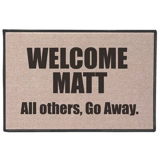 Shop Welcome Matt Funny Quirky Humorous Doormat Fits