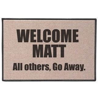 """Welcome Matt Funny Quirky Humorous Doormat - Fits Standard Doorway - 27"""" x 18"""""""