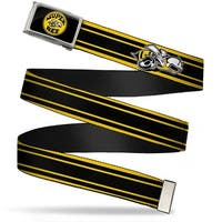Super Bee Logo Fcg Black Gray Yellow White  Chrome Super Bee Logo Web Belt