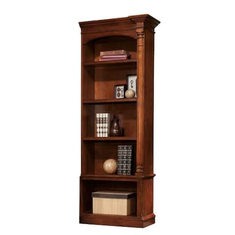 Hekman Weathered Cherry Wood 4-shelf Media Bookshelf (Right Pier Only)