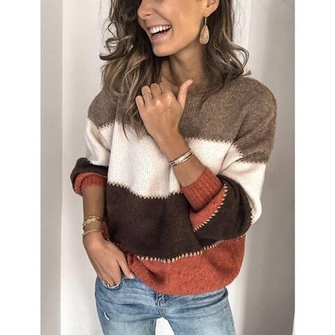 Wide Striped Winter Sweater