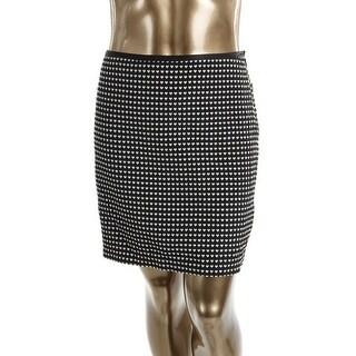 Studio M Womens A-Line Skirt Textured Lined