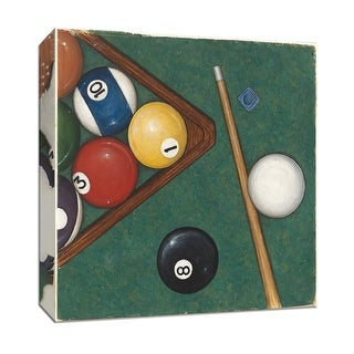 """PTM Images 9-151986  PTM Canvas Collection 12"""" x 12"""" - """"Pool"""" Giclee Sports and Hobbies Art Print on Canvas"""