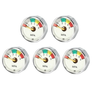 5MPA Pony Bottle Air Pressure Gauge for Scuba Diving Regulators , M8 , 5pcs - 5Mpa M8