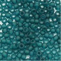 Toho Round Seed Beads 8/0 7BDF 'Transparent Frosted Teal' 8 Gram Tube - Thumbnail 0