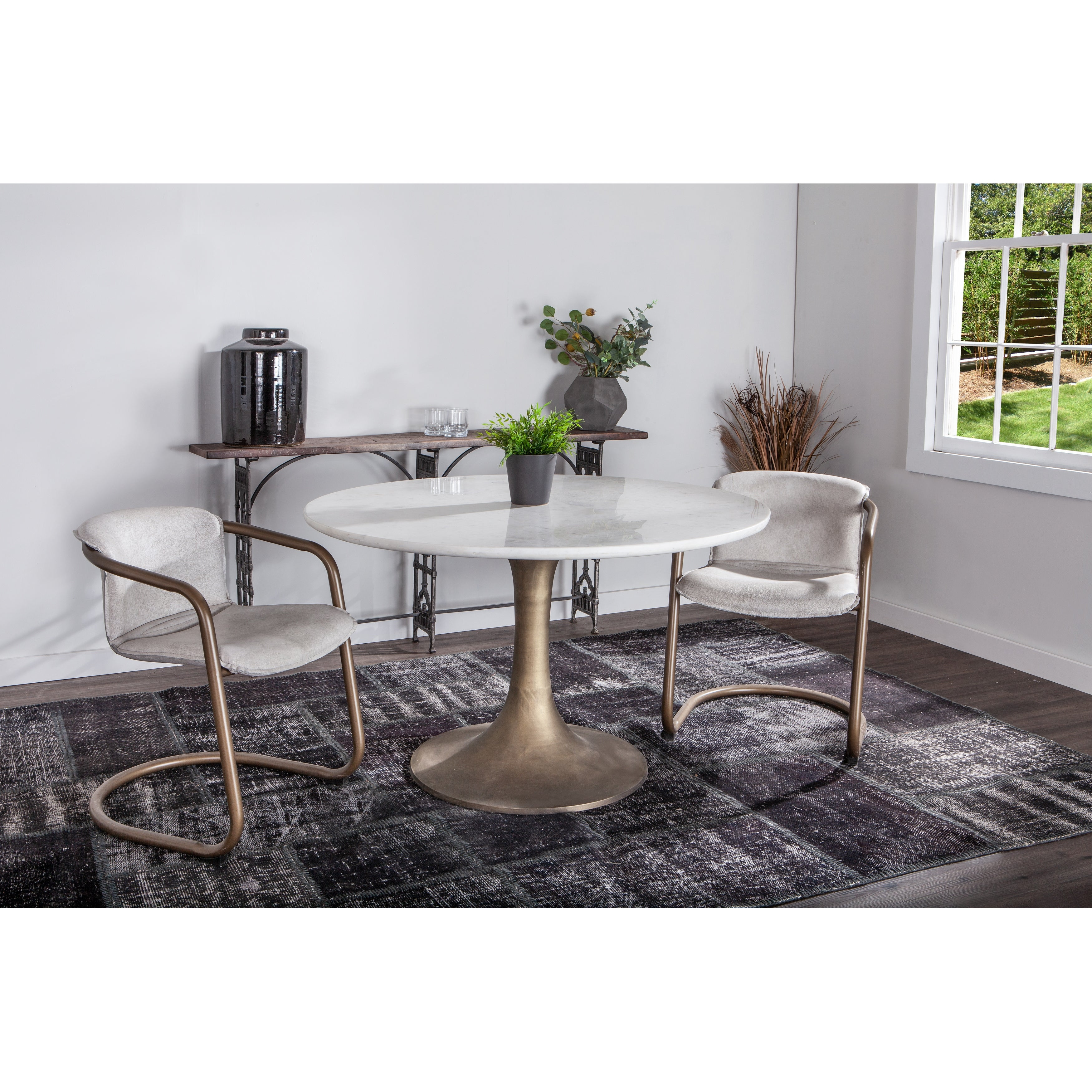 Chiavari Set Of Two Distressed Leather Dining Chairs Overstock 18657629