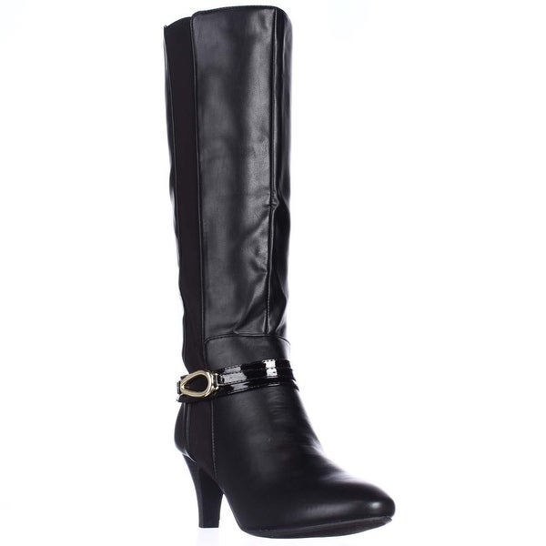 KS35 Holdenn Knee-High Dress Boots, Black