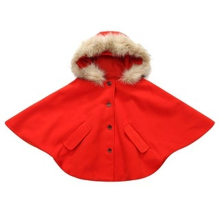 Richie House Girls' Fashion Cape with Button Placket