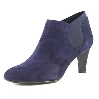 Bandolino Wilbur Women Pointed Toe Leather Blue Bootie