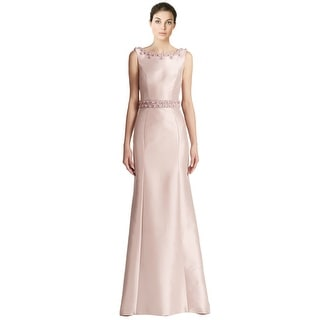 Theia Embroidered Sleeveless Mermaid Evening Gown Dress - 8