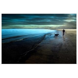 """A walk on the beach"" Poster Print"