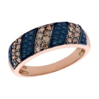 Prism Jewel 1 2 Carat Brown Color Diamond And Diamond Effect Half Eternity Ring