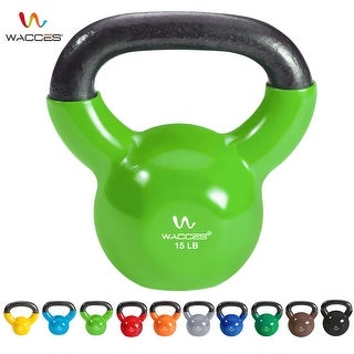Wacces Single Vinyl Dipped Kettlebell for Croos Training, Home Exercise