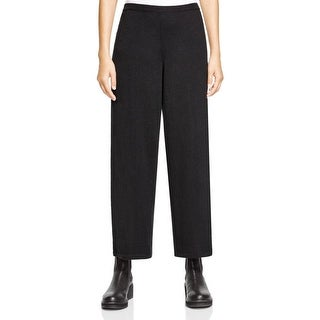Eileen Fisher Womens Straight Leg Pants Merino Wool Crop