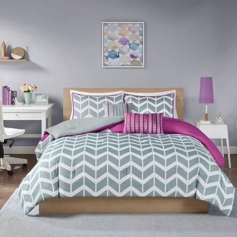 Elle Chevron 5-piece Comforter Set by Intelligent Design