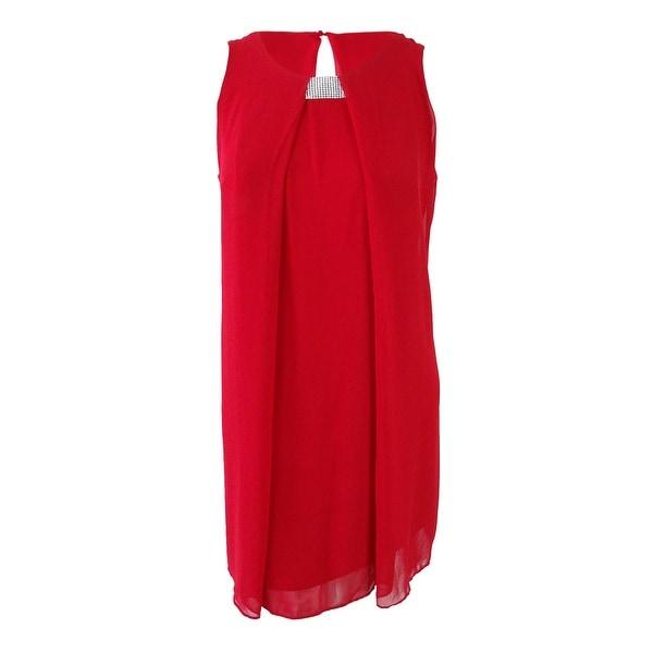 Msk Women's Rhinestone Chiffon Flyaway Dress