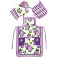 Chef's 3 Piece Kitchen Set - Apron, Oven Mit and Potholder - Thumbnail 2