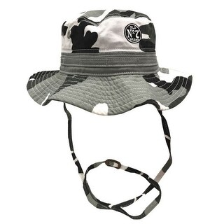 Jack Daniels Men's Wide Brim Boonie Fishing Bucket Hat Gray Camouflage JD77-124