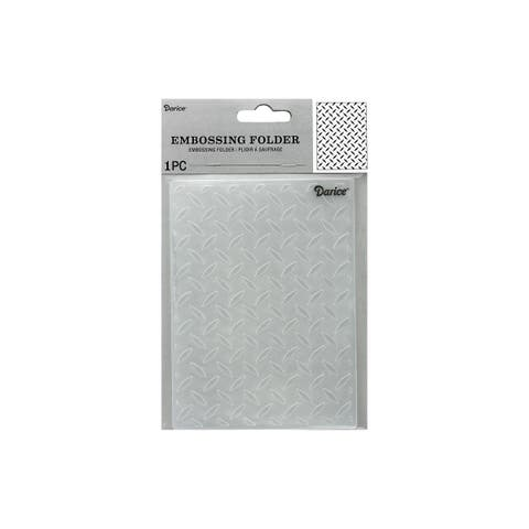 1218-101 darice emboss folder diamond plate