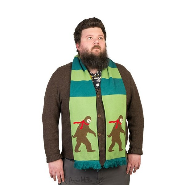 "Bigfoot 71"" Knit Scarf - Green"