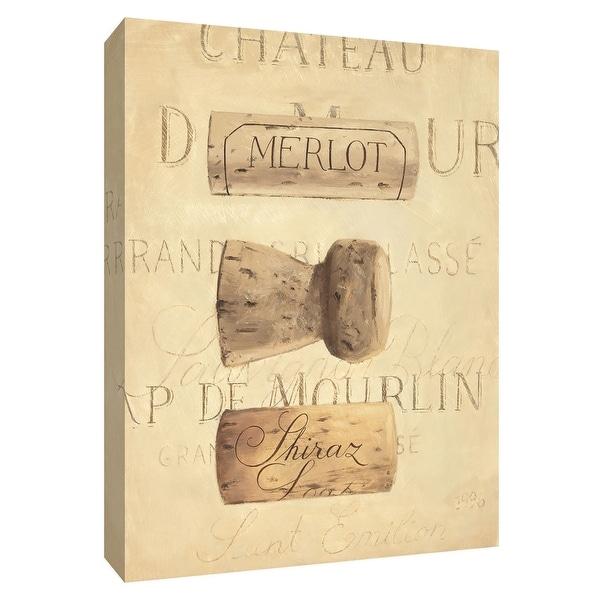 """PTM Images 9-154510 PTM Canvas Collection 10"""" x 8"""" - """"Chateau Nouveau Element V"""" Giclee Wine Art Print on Canvas"""