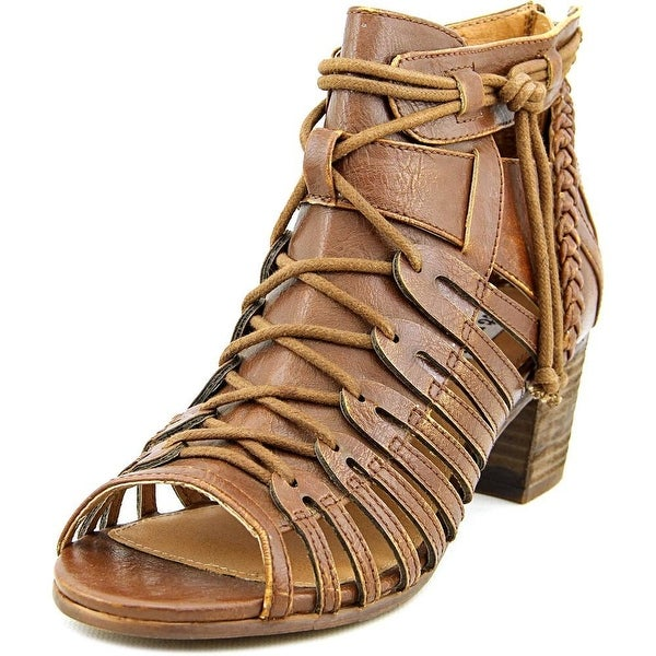 Not Rated Cupertine Women  Open Toe Synthetic Tan Gladiator Sandal
