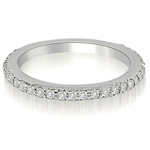 0.40 cttw. 14K White Gold Classic Round Cut Diamond Wedding Band