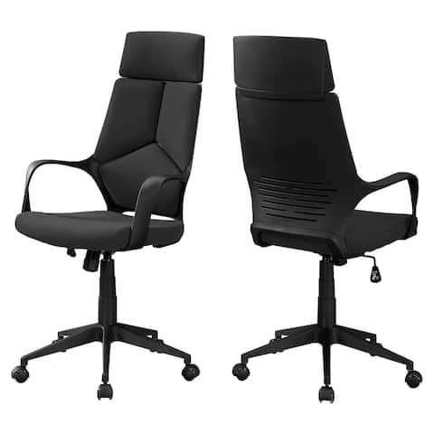 """Offex Contemporary Black Polyester High Back Executive Office Chair - 25""""x 24.5""""x 45.75"""""""
