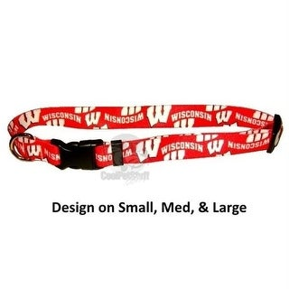 Wisconsin Badgers Pet Nylon Collar - Medium
