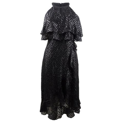 Kensie Women's Ruffled Popover Dress - Black