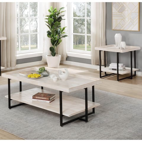 Furniture of America Caledon Transitional 2-piece 47-inch Table Set