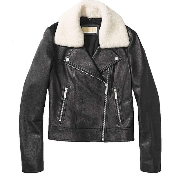 Michael Kors Black Jacket with Shearling Collar