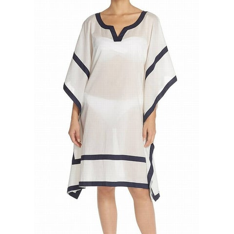 Vince Camuto White Womens Size Small XS/S Tunic Cover-Up Swimwear