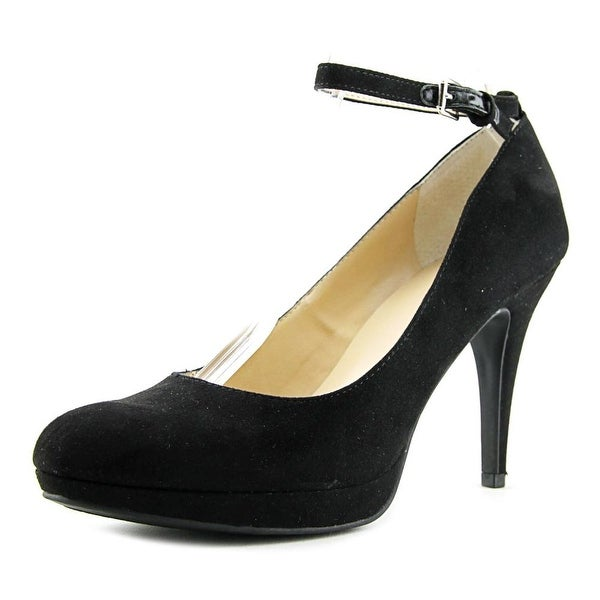Unisa Saible Women Round Toe Synthetic Black Heels