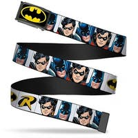 Batman Fcg Black Yellow Chrome Batman & Robin Blocks White Webbing Web Belt